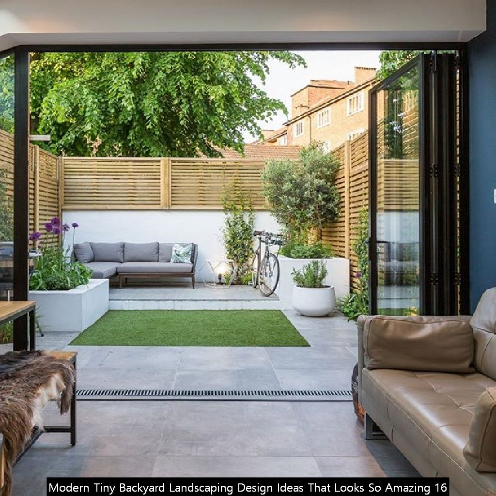 Modern Tiny Backyard Landscaping Design Ideas That Looks So Amazing 16