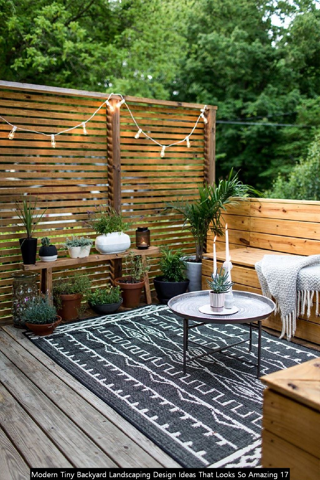 Modern Tiny Backyard Landscaping Design Ideas That Looks So Amazing 17
