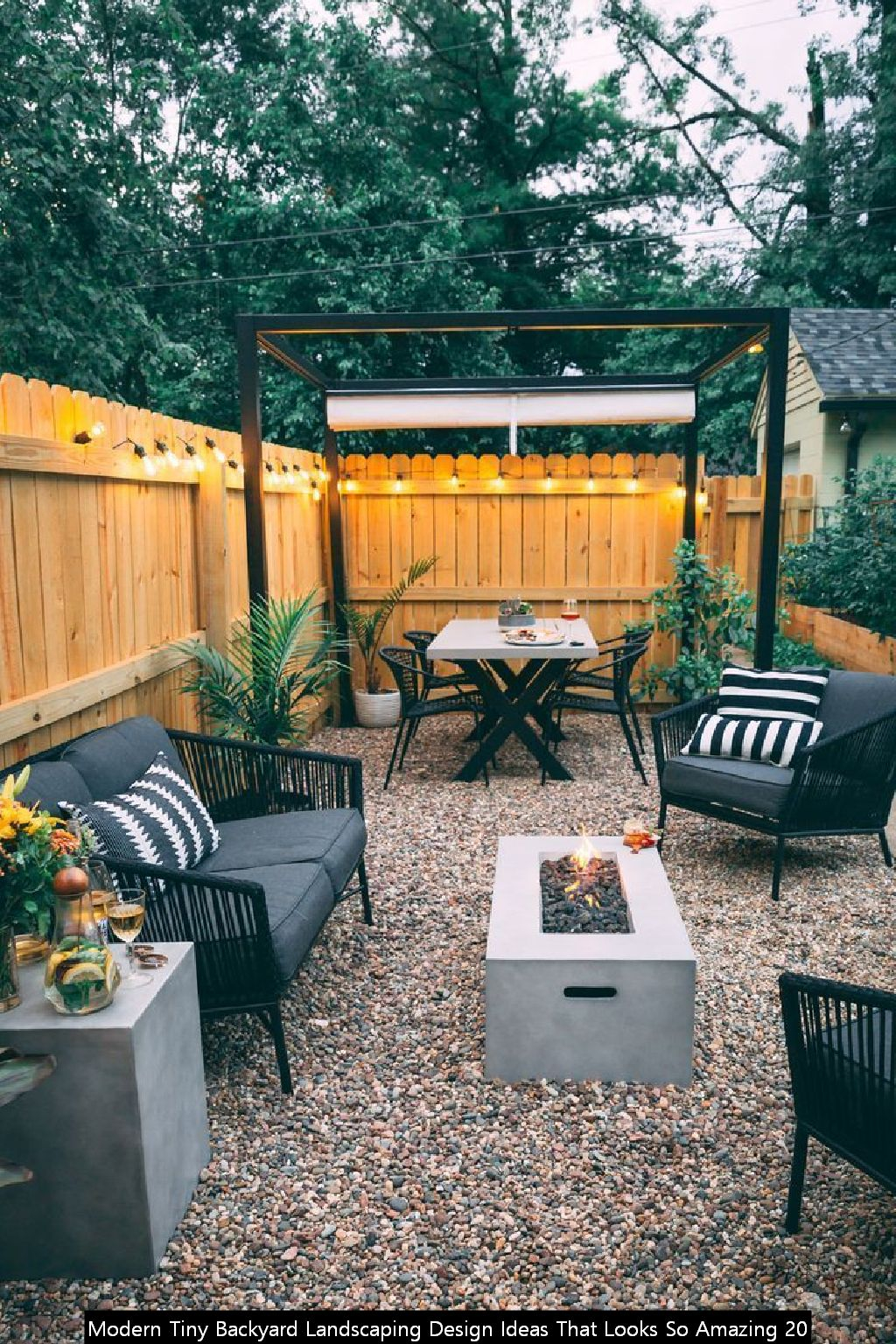 Modern Tiny Backyard Landscaping Design Ideas That Looks So Amazing 20