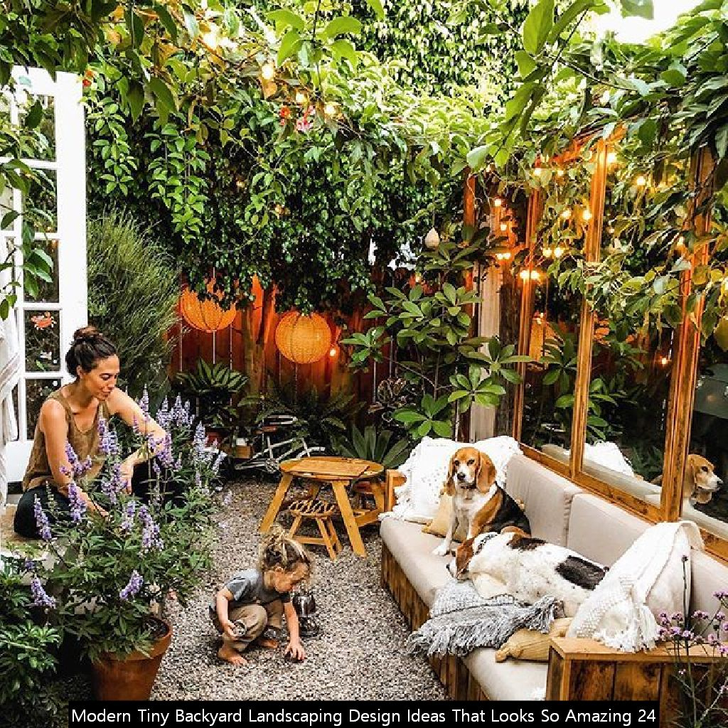 Modern Tiny Backyard Landscaping Design Ideas That Looks So Amazing 24