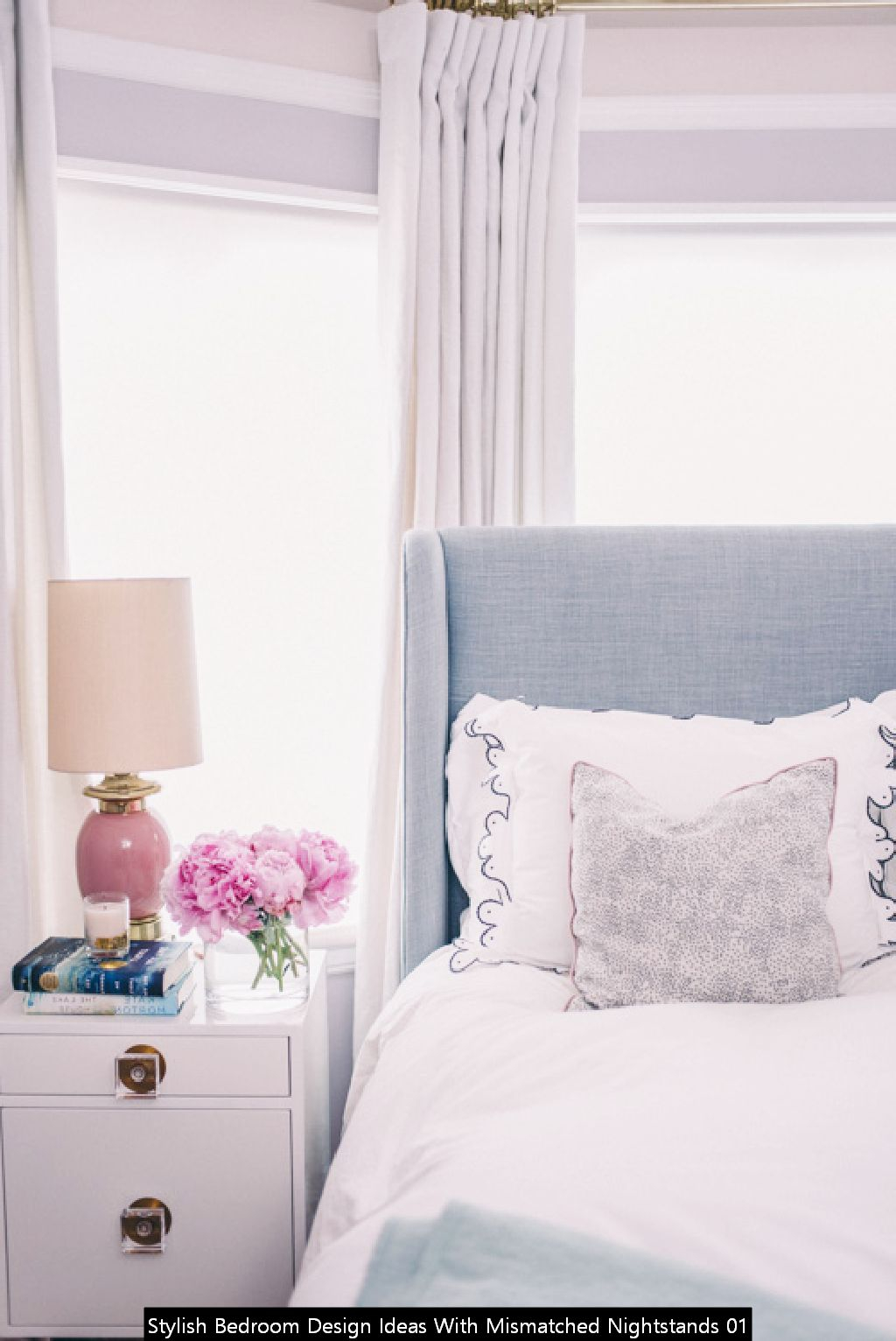 Stylish Bedroom Design Ideas With Mismatched Nightstands 01
