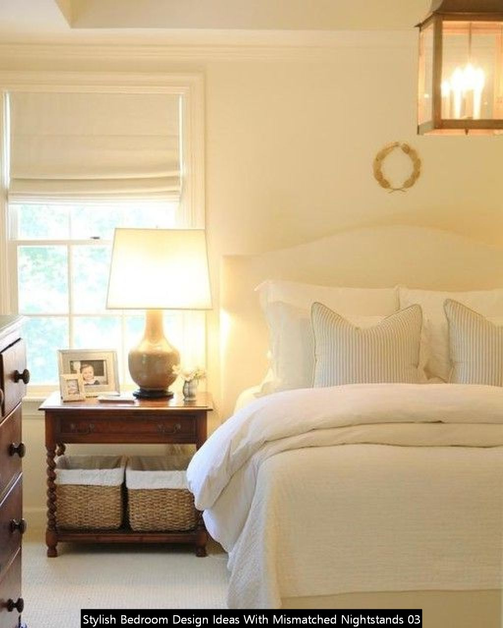 Stylish Bedroom Design Ideas With Mismatched Nightstands 03