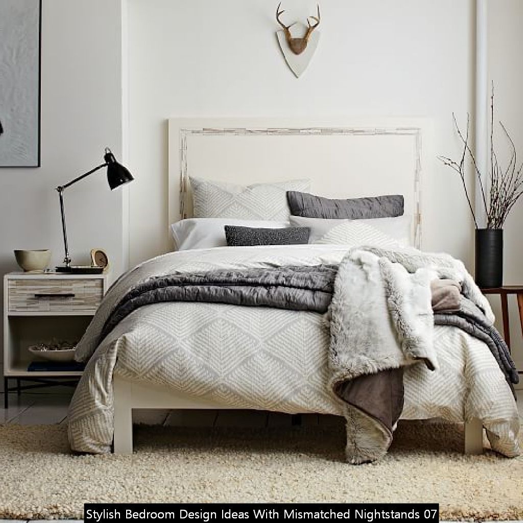 Stylish Bedroom Design Ideas With Mismatched Nightstands 07