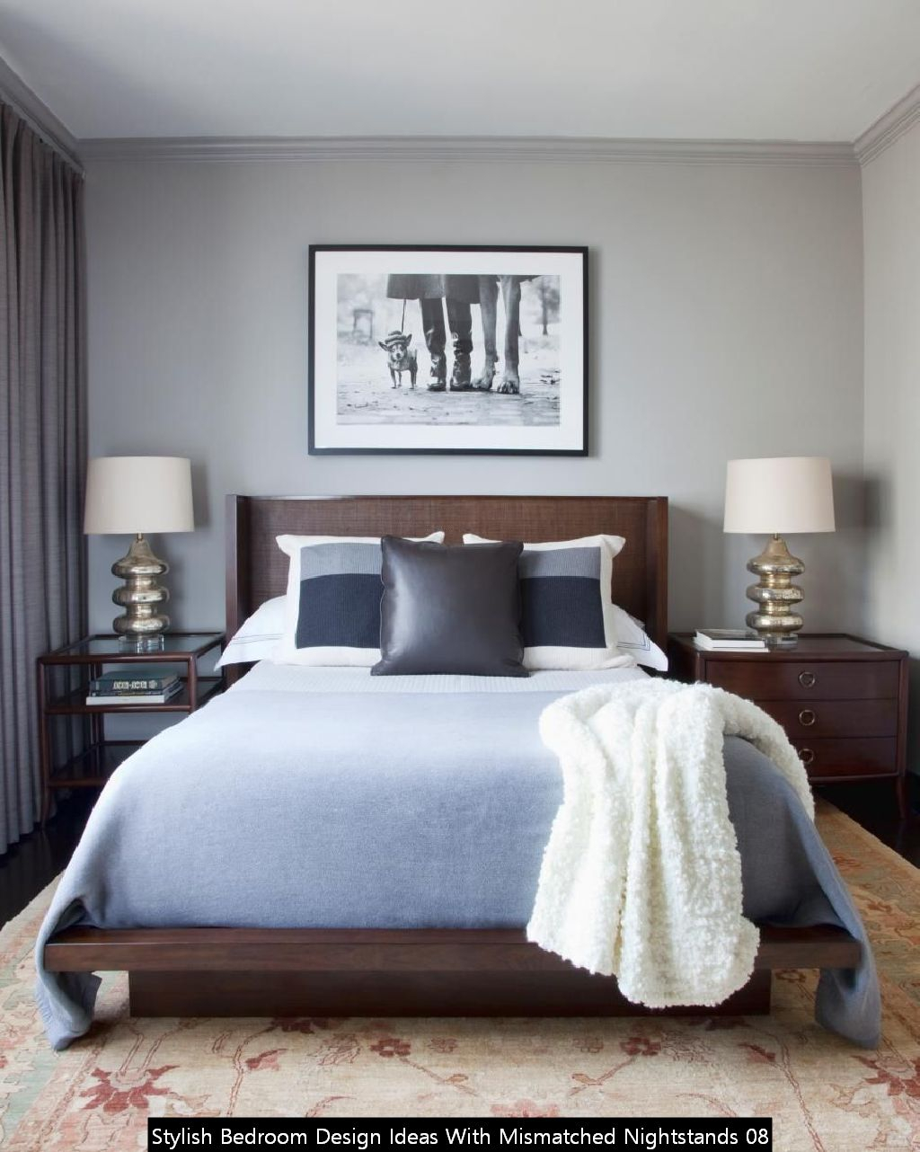 Stylish Bedroom Design Ideas With Mismatched Nightstands 08