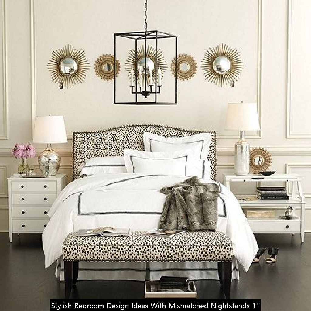 20 Stylish Bedroom Design Ideas With Mismatched Nightstands Cluedecor