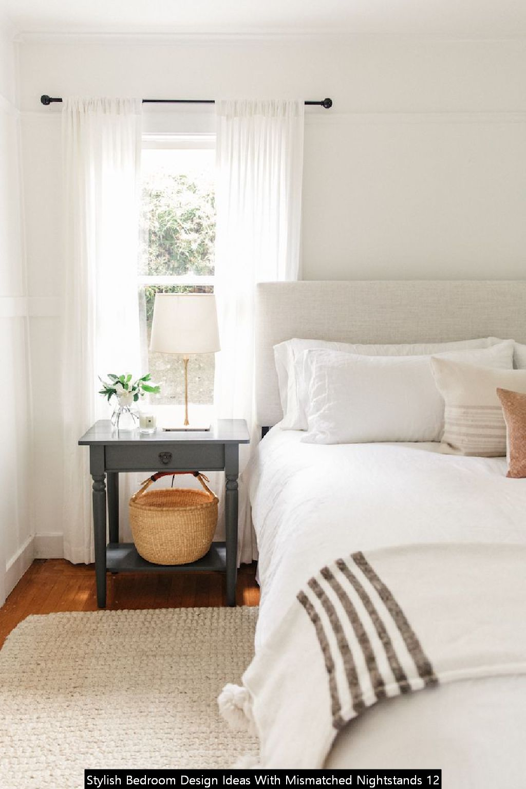 Stylish Bedroom Design Ideas With Mismatched Nightstands 12
