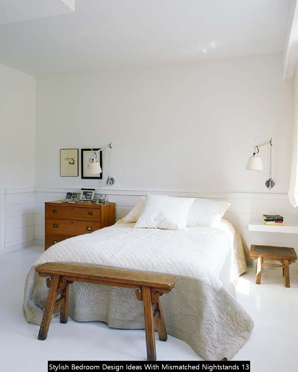 Stylish Bedroom Design Ideas With Mismatched Nightstands 13