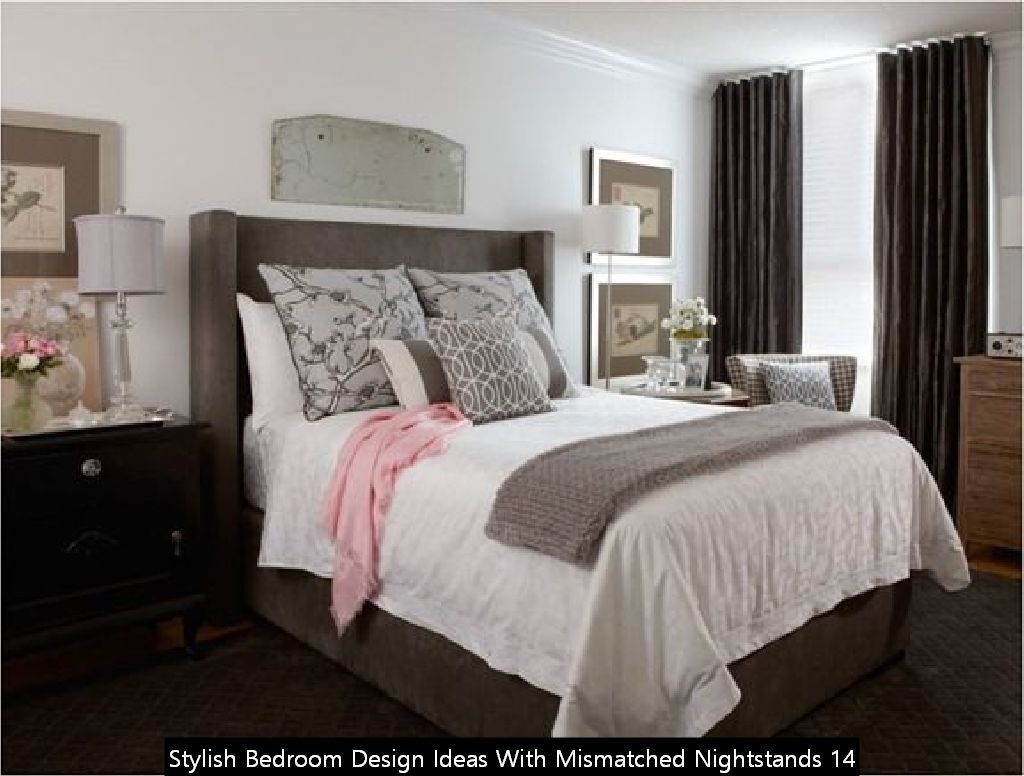 Stylish Bedroom Design Ideas With Mismatched Nightstands 14