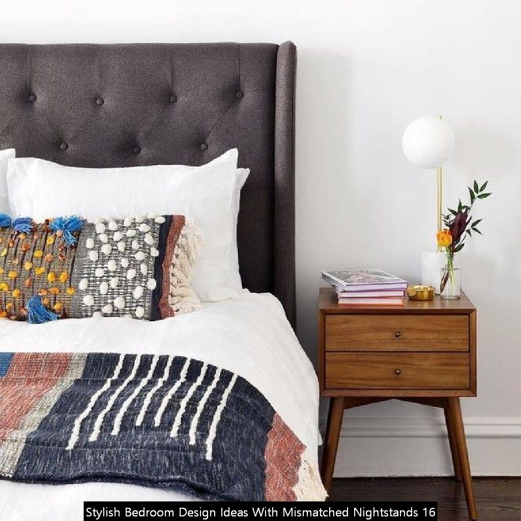 Stylish Bedroom Design Ideas With Mismatched Nightstands 16