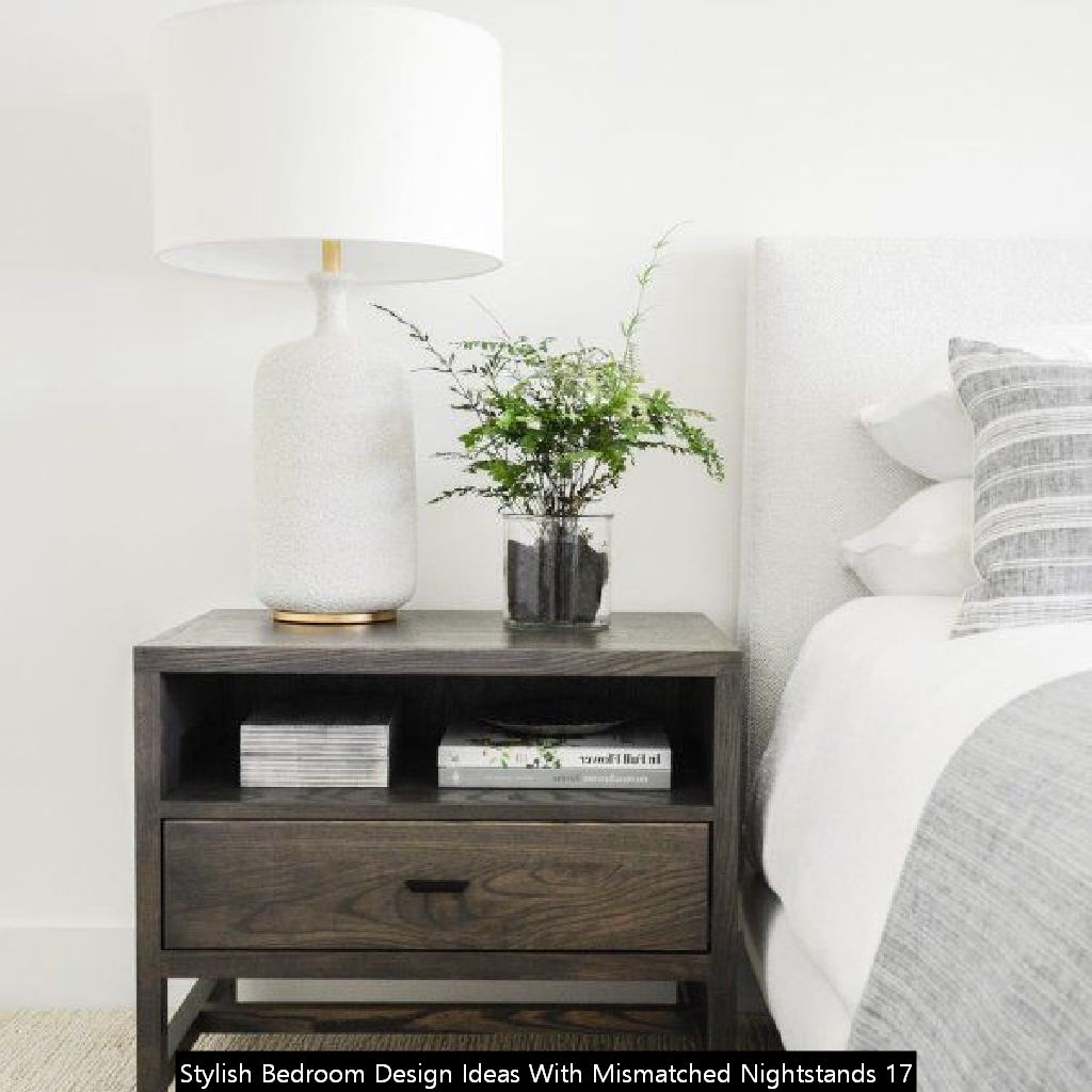 Stylish Bedroom Design Ideas With Mismatched Nightstands 17