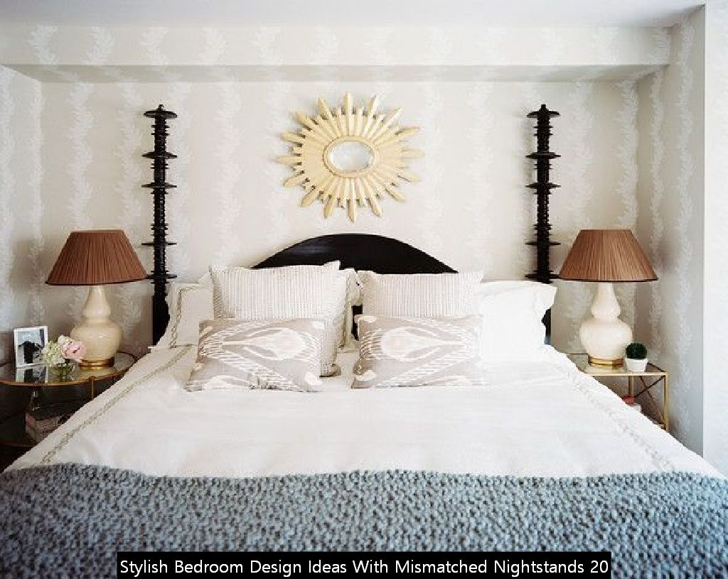 Stylish Bedroom Design Ideas With Mismatched Nightstands 20