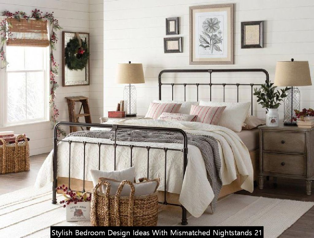 Stylish Bedroom Design Ideas With Mismatched Nightstands 21