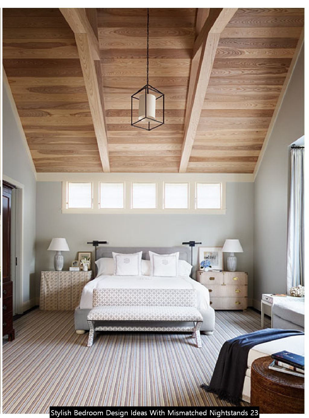 Stylish Bedroom Design Ideas With Mismatched Nightstands 23