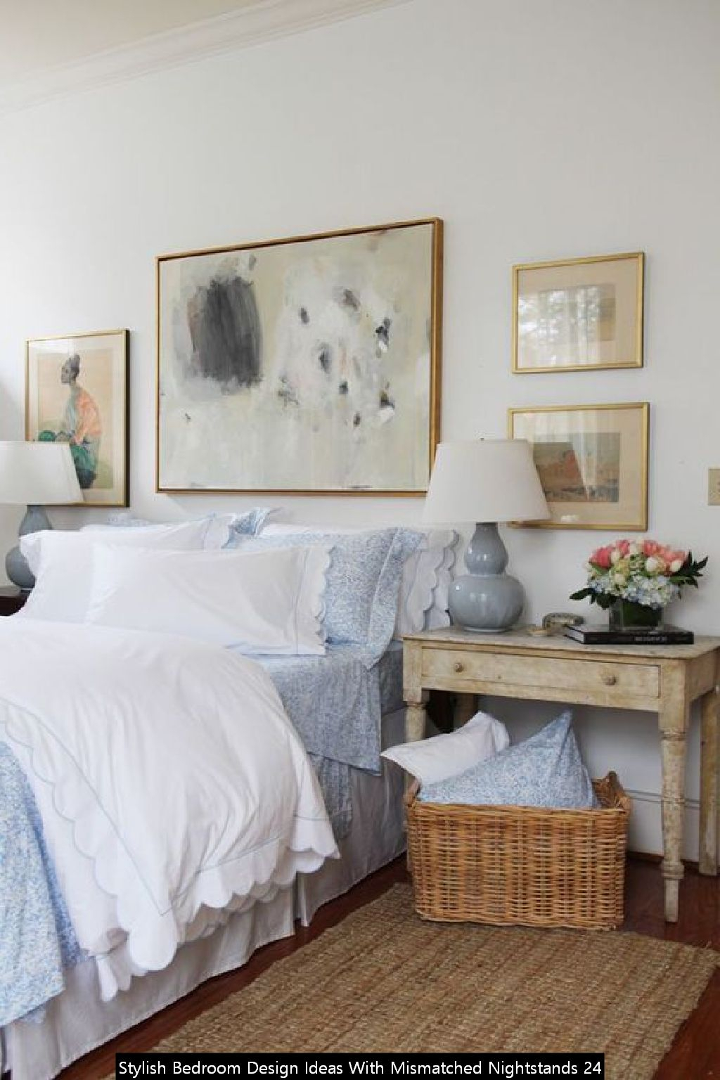 Stylish Bedroom Design Ideas With Mismatched Nightstands 24