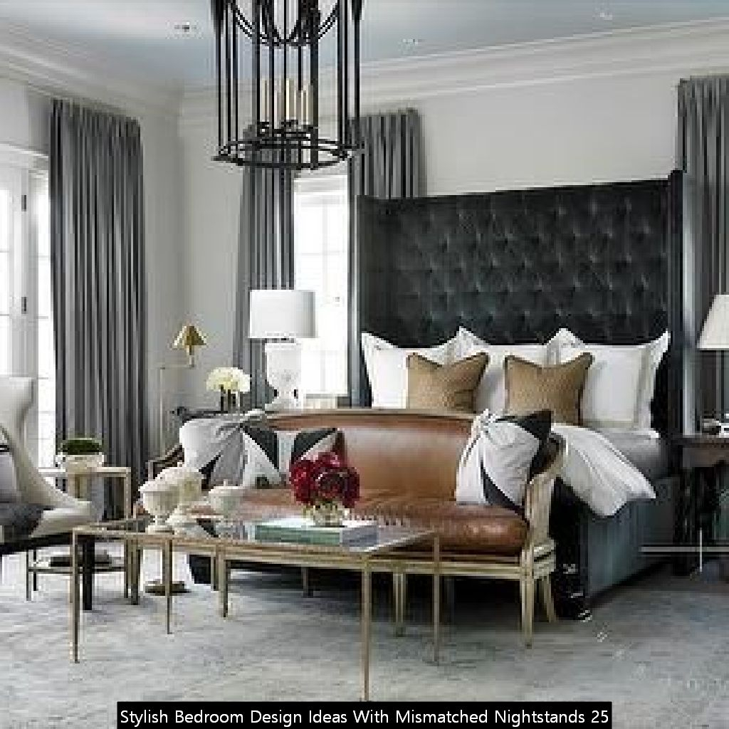 Stylish Bedroom Design Ideas With Mismatched Nightstands 25