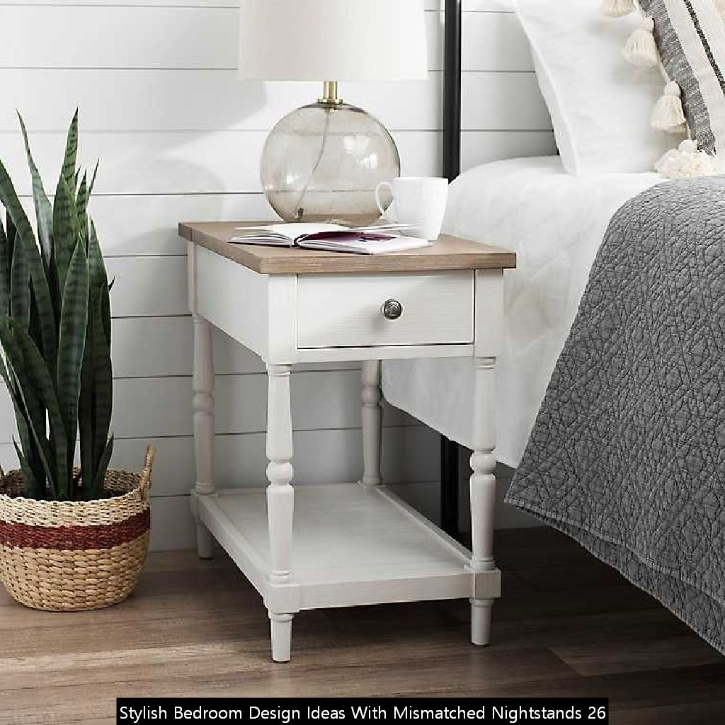 Stylish Bedroom Design Ideas With Mismatched Nightstands 26