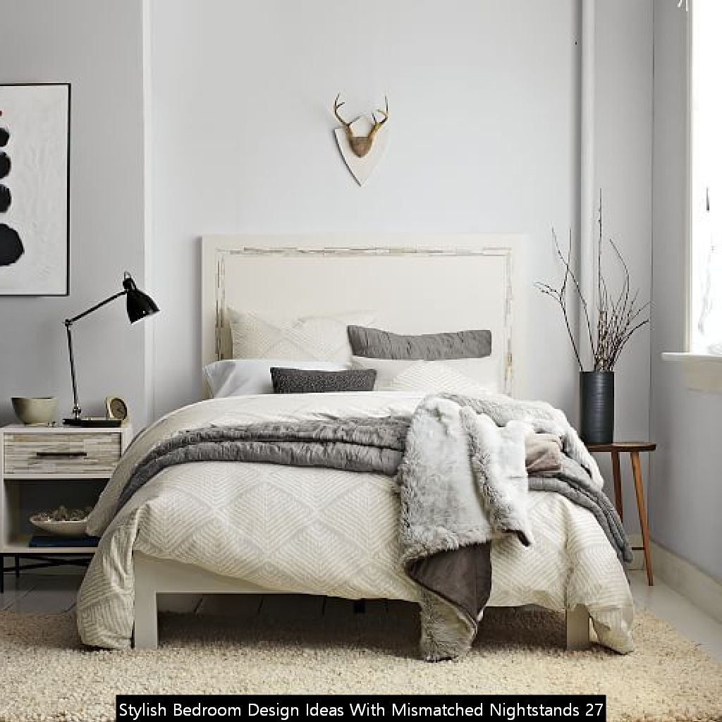 Stylish Bedroom Design Ideas With Mismatched Nightstands 27