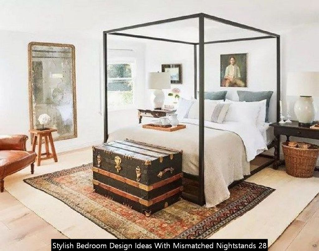 Stylish Bedroom Design Ideas With Mismatched Nightstands 28