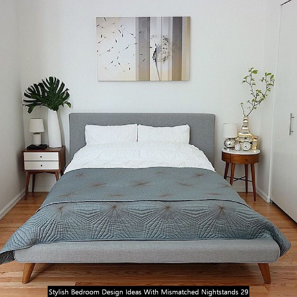 Stylish Bedroom Design Ideas With Mismatched Nightstands 29