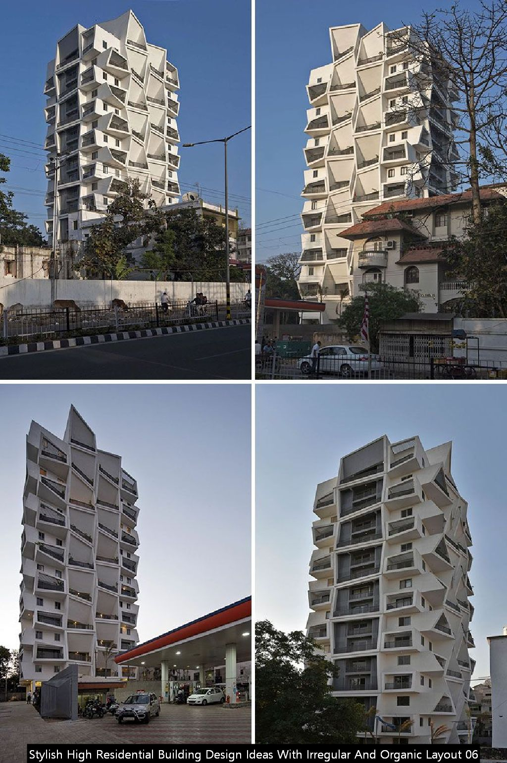 Stylish High Residential Building Design Ideas With Irregular And Organic Layout 06