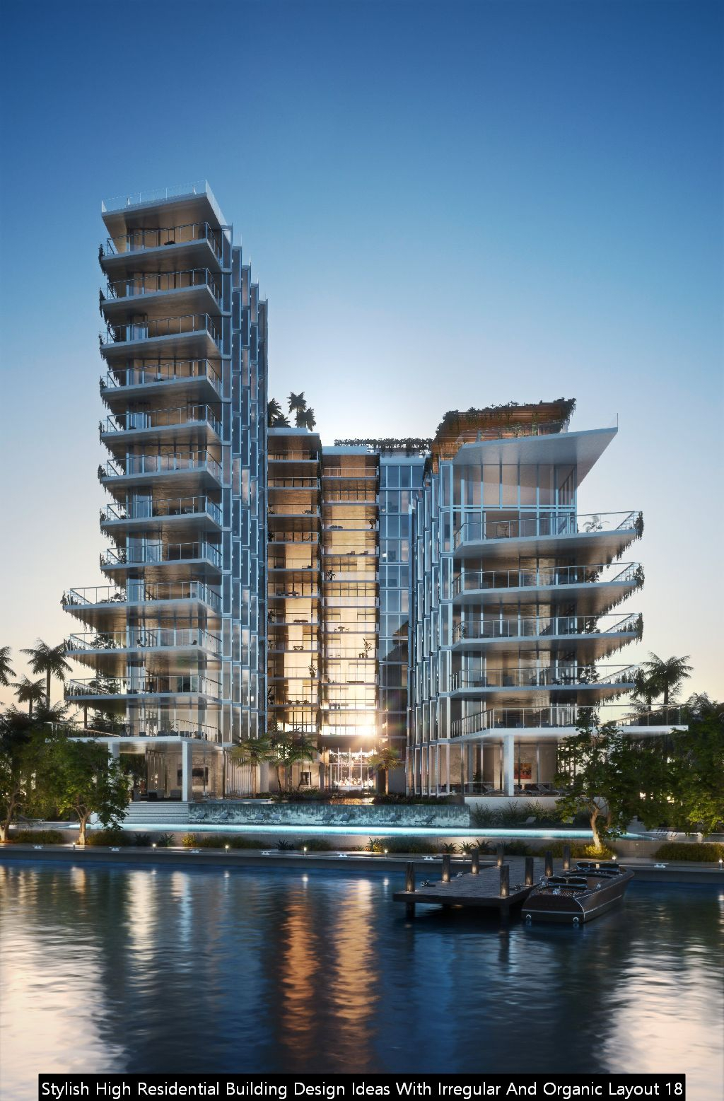 Stylish High Residential Building Design Ideas With Irregular And Organic Layout 18