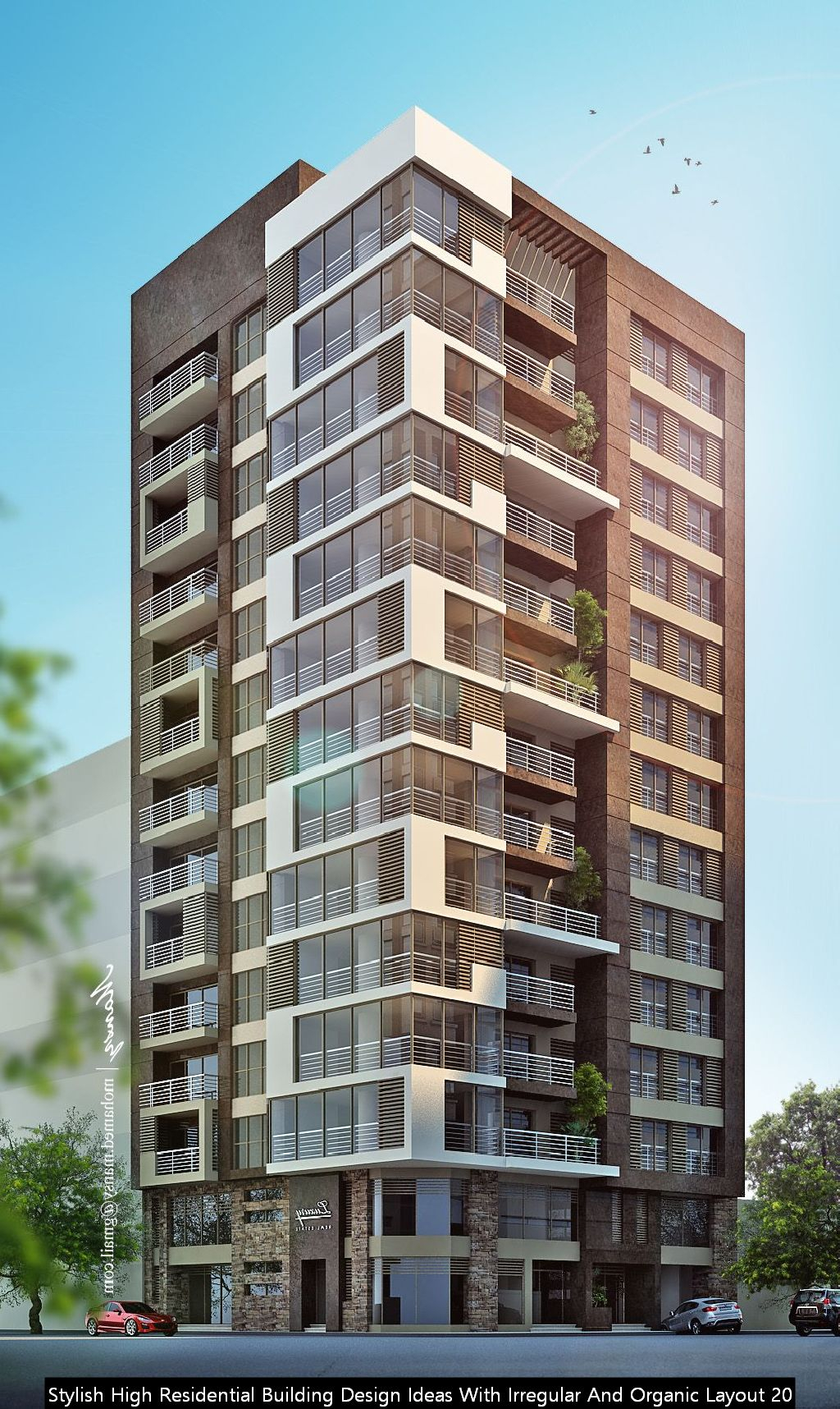 Stylish High Residential Building Design Ideas With Irregular And Organic Layout 20