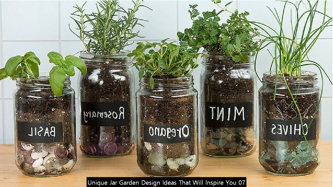 Unique Jar Garden Design Ideas That Will Inspire You 07