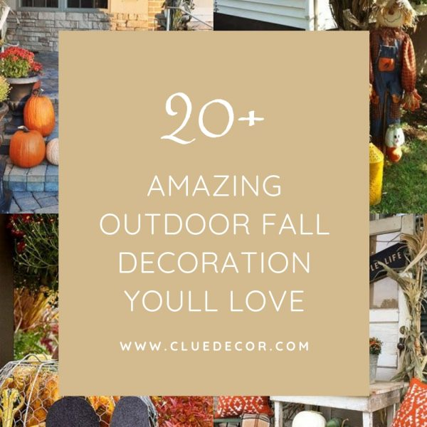20+ Amazing Outdoor Fall Decoration Youll Love