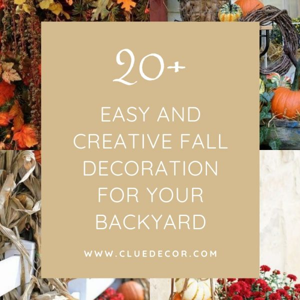 20+ Easy And Creative Fall Decoration For Your Backyard