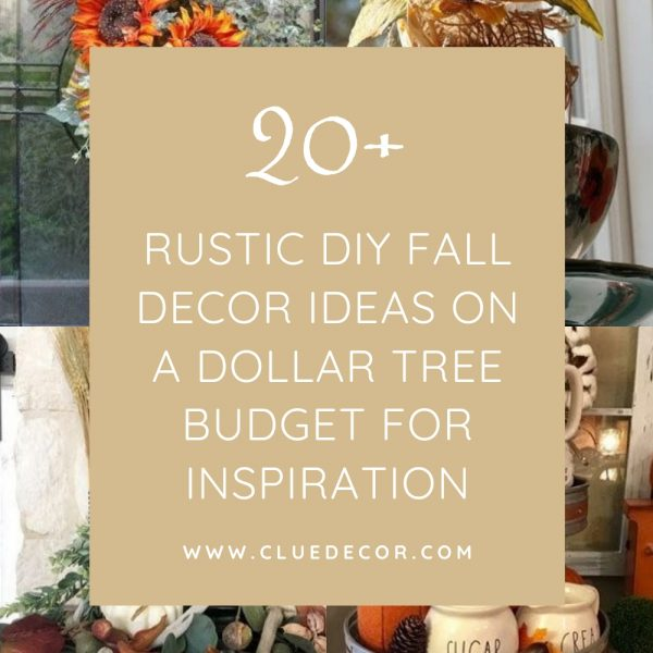 20+ Rustic Diy Fall Decor Ideas On A Dollar Tree Budget For Inspiration