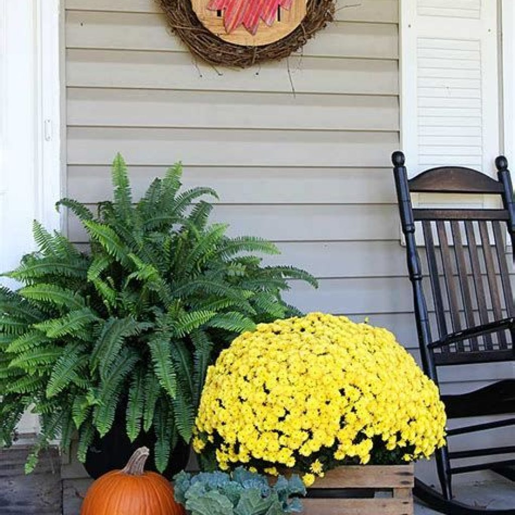 Beautiful Fall Farmhouse Decor Idea For Front Porch 21
