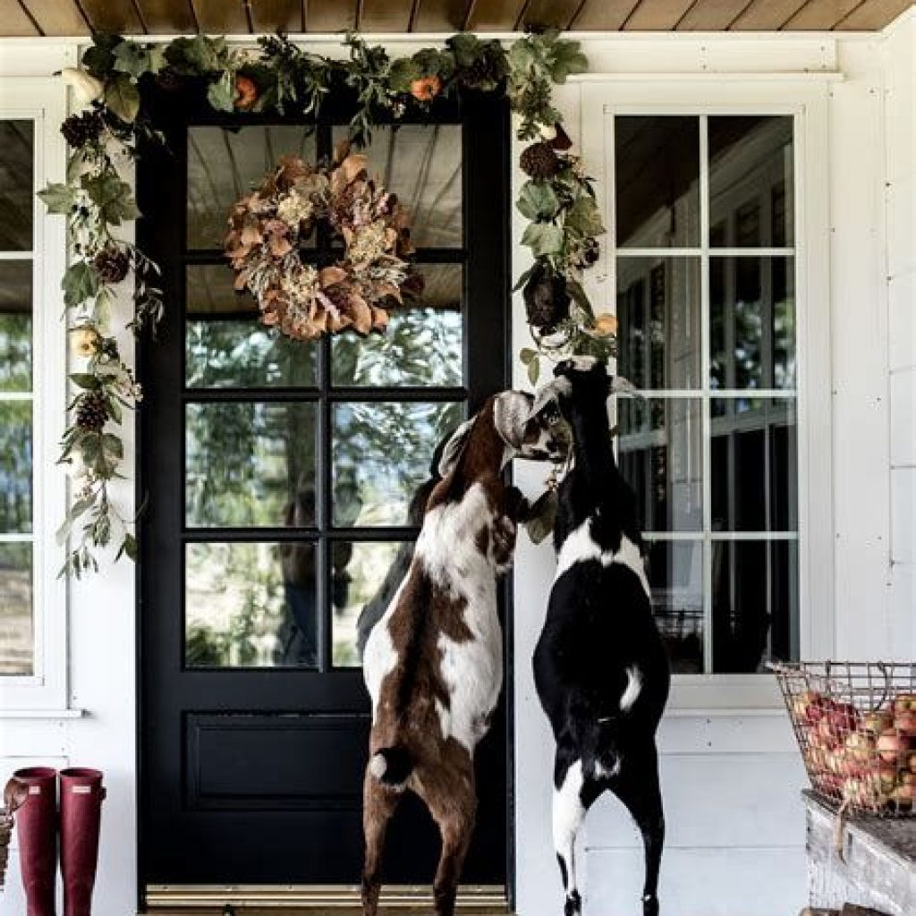 Beautiful Fall Farmhouse Decor Idea For Front Porch 30