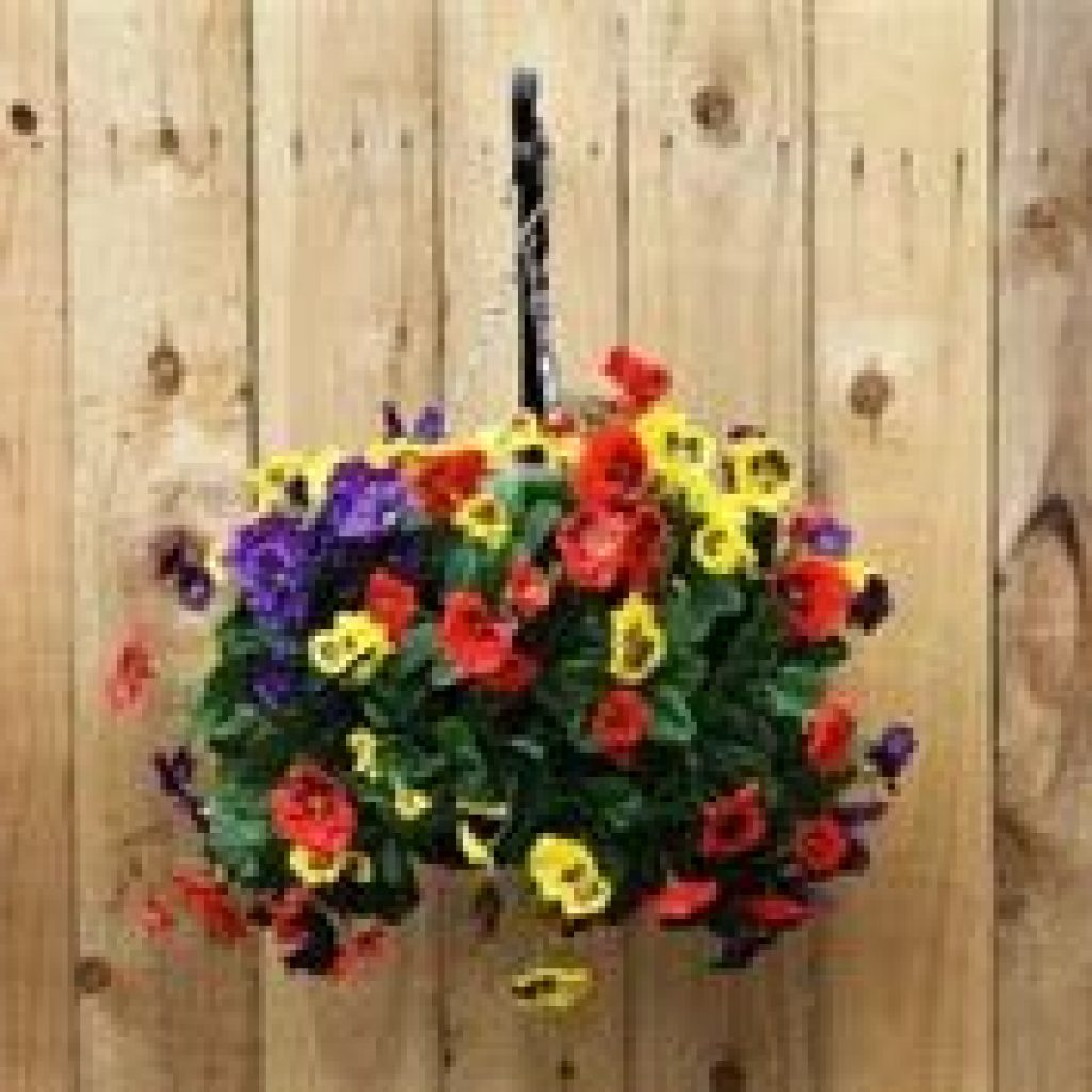 Creative Blooming Hanging Baskets For Garden Year Round 05