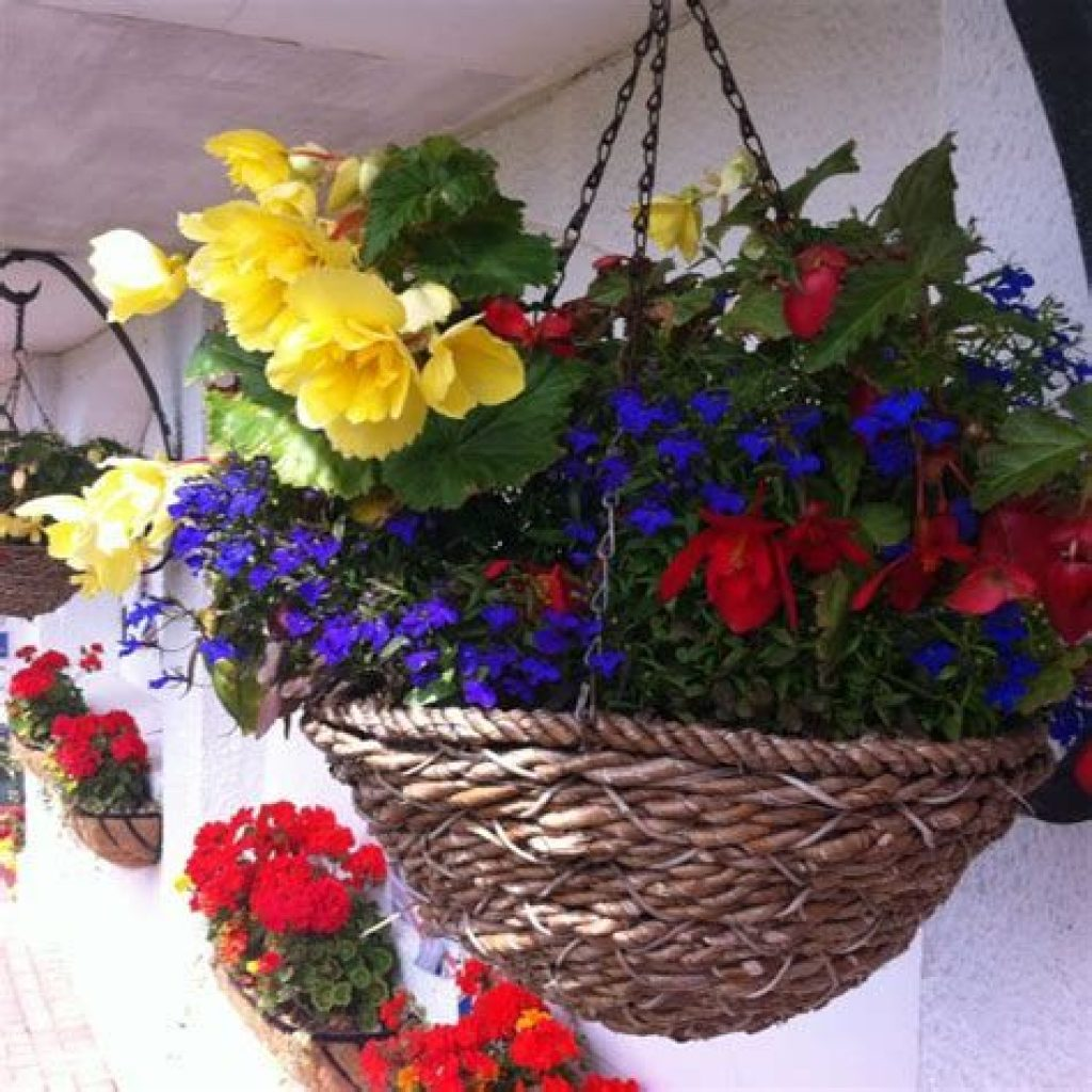 Creative Blooming Hanging Baskets For Garden Year Round 18