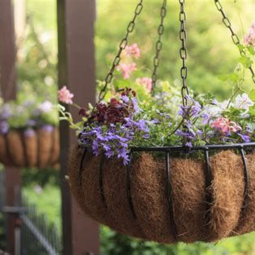 Creative Blooming Hanging Baskets For Garden Year Round 25