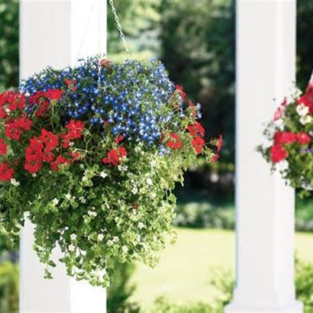 Creative Blooming Hanging Baskets For Garden Year Round 38