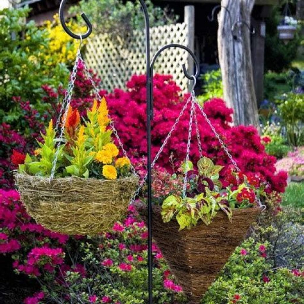 Creative Blooming Hanging Baskets For Garden Year Round 44