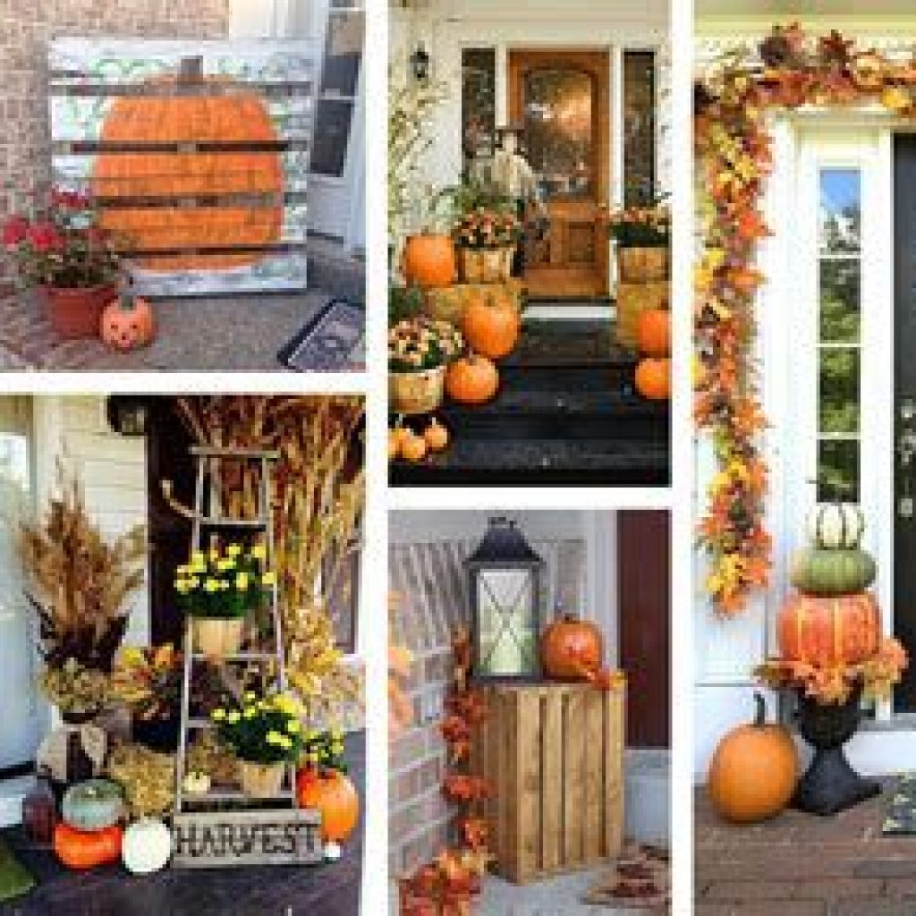 Creative Fall Front Door Decor Ideas To Be Inspired 05