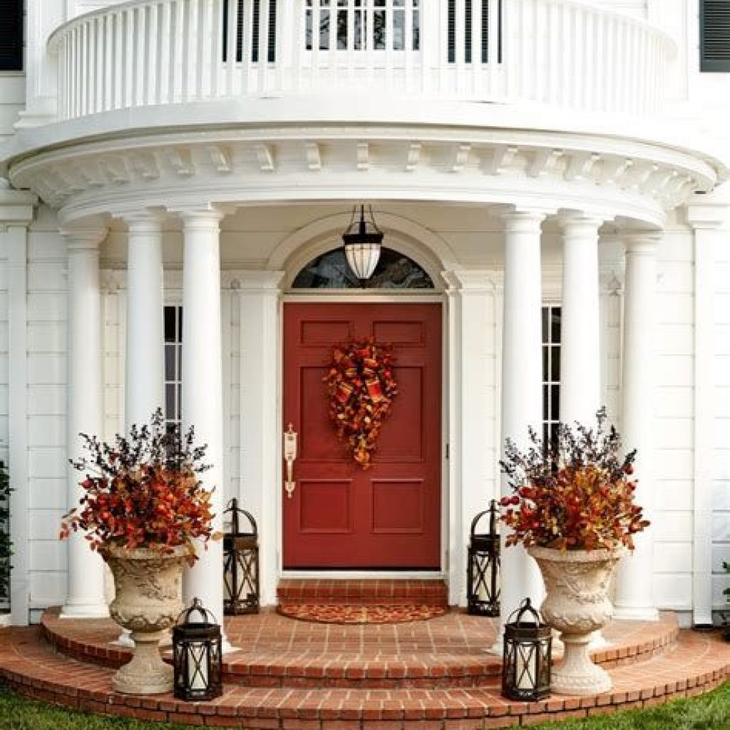 Creative Fall Front Door Decor Ideas To Be Inspired 27