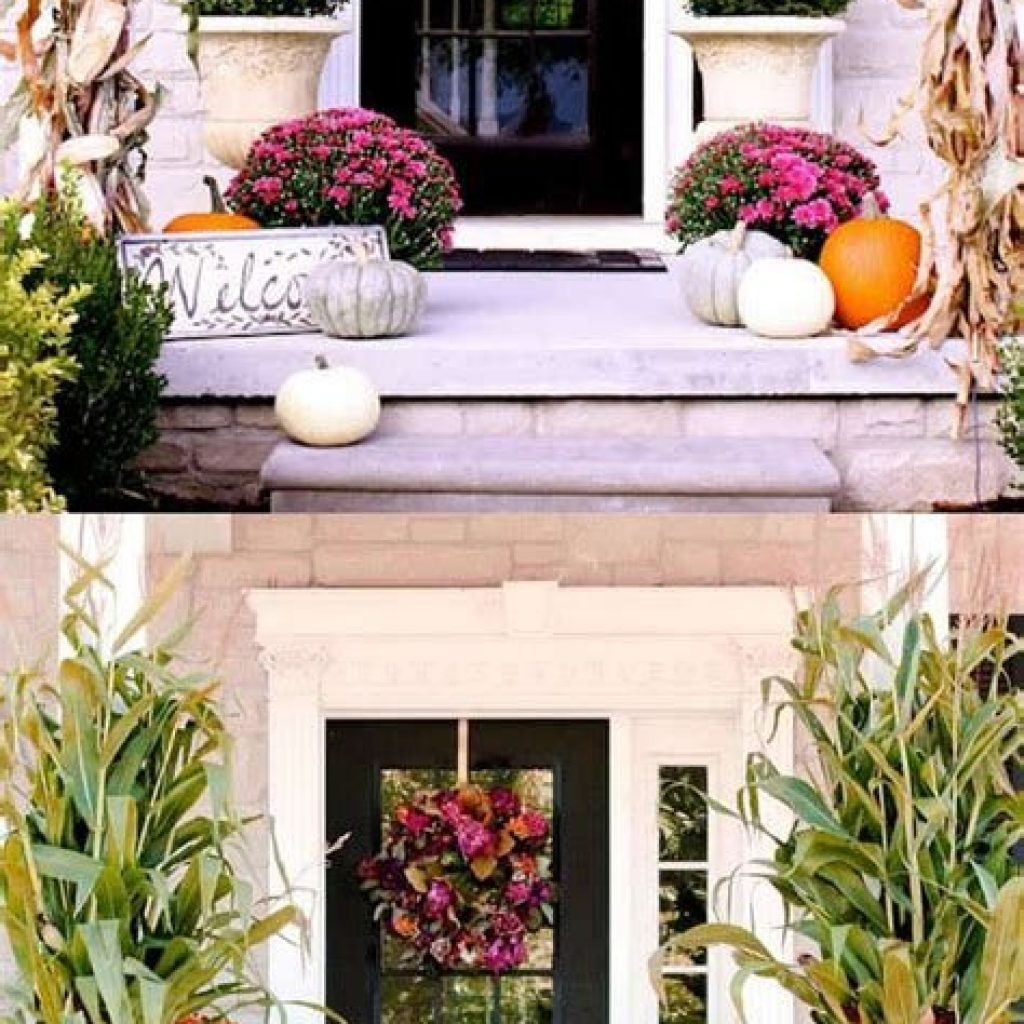 Creative Fall Front Door Decor Ideas To Be Inspired 36