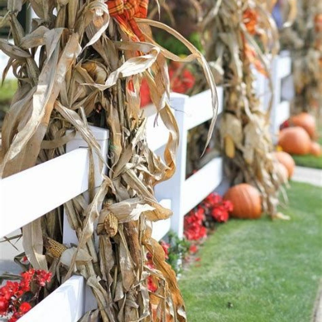 Easy And Creative Fall Decoration For Your Backyard 04