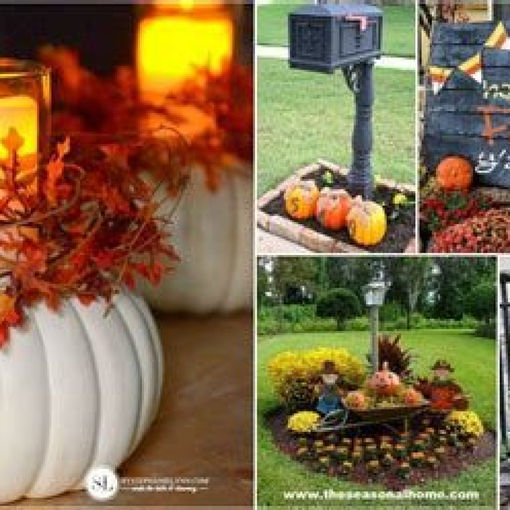 Easy And Creative Fall Decoration For Your Backyard 07