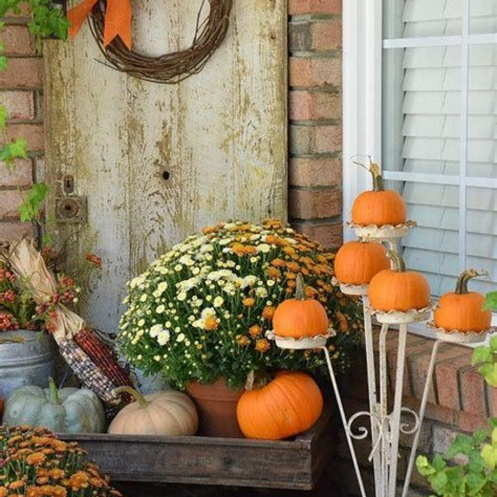 Easy And Creative Fall Decoration For Your Backyard 10