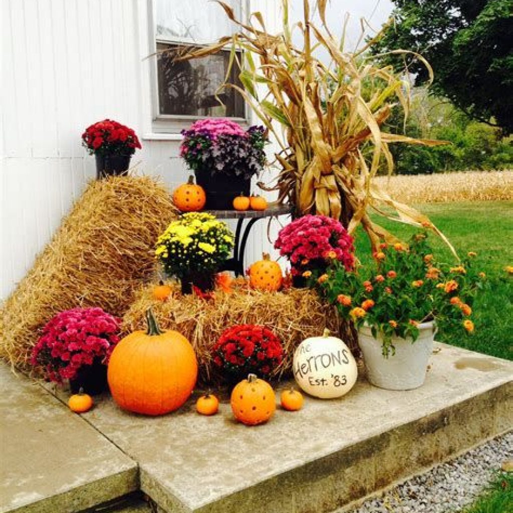 Easy And Creative Fall Decoration For Your Backyard 12