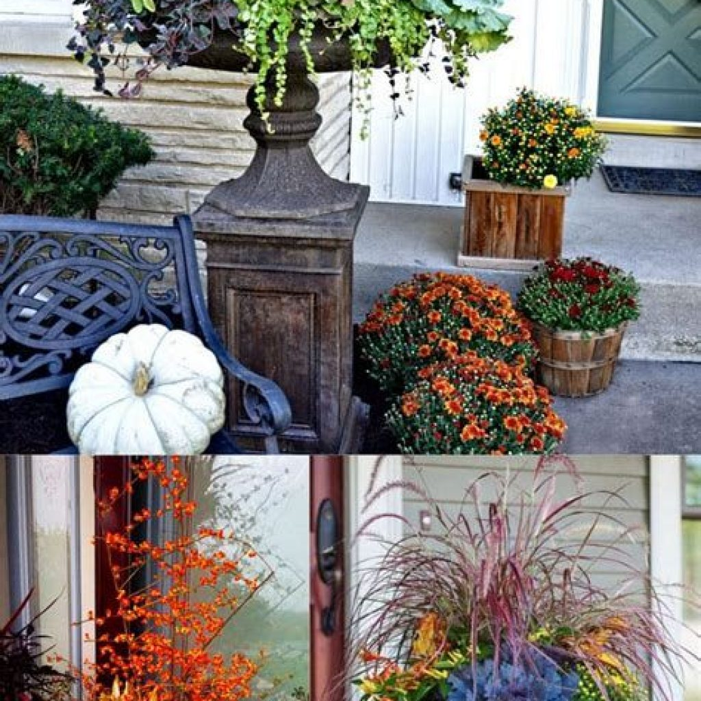 Easy And Creative Fall Decoration For Your Backyard 36