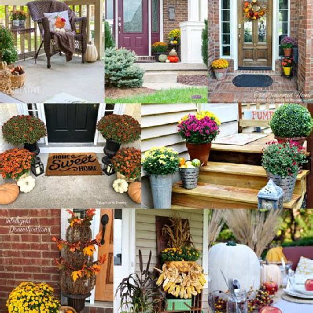 Easy And Creative Fall Decoration For Your Backyard 37