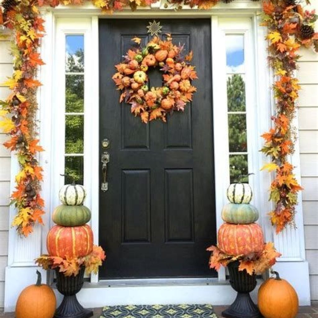 Easy Outdoor Fall Decoration To Inspire Yourself 16
