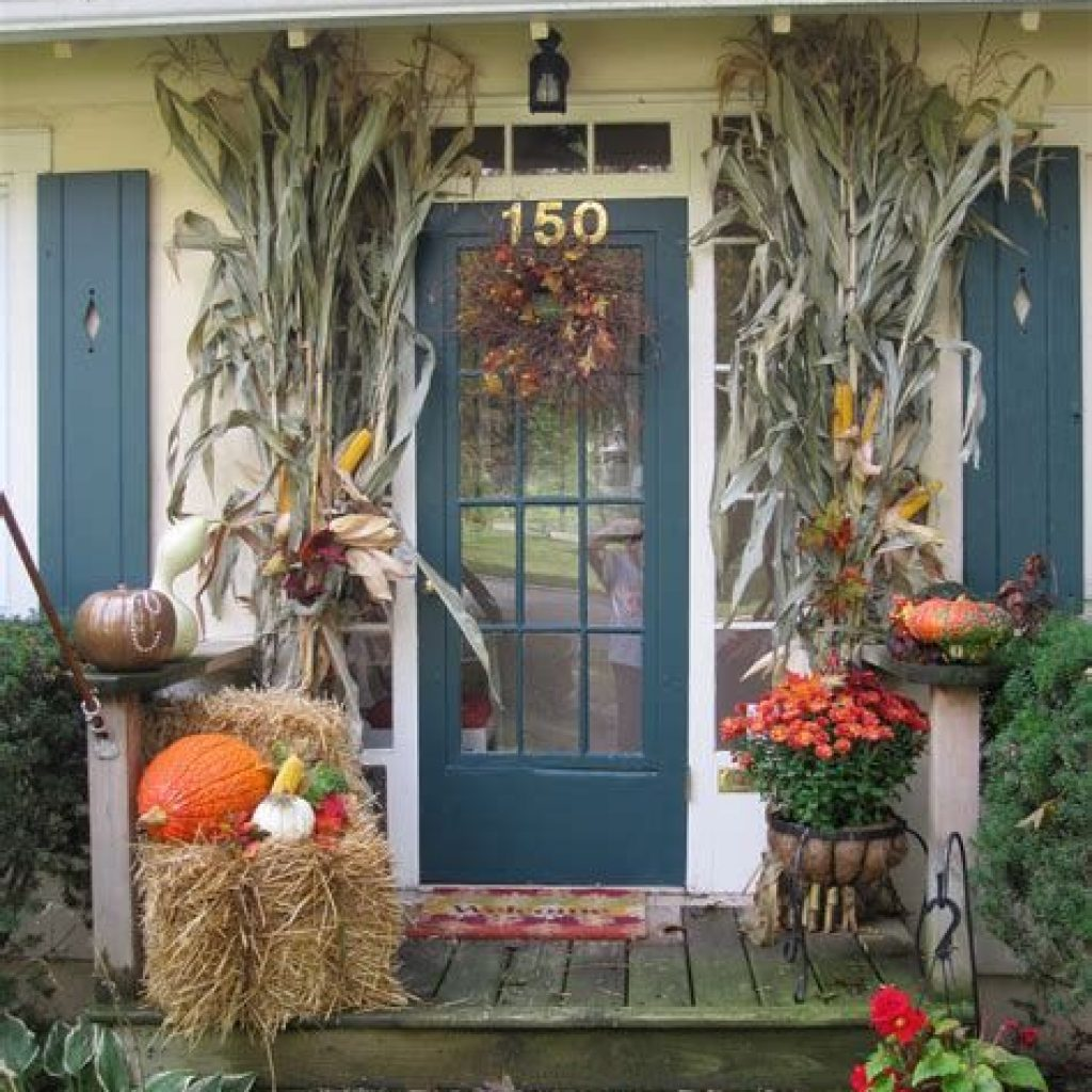 Easy Outdoor Fall Decoration To Inspire Yourself 23
