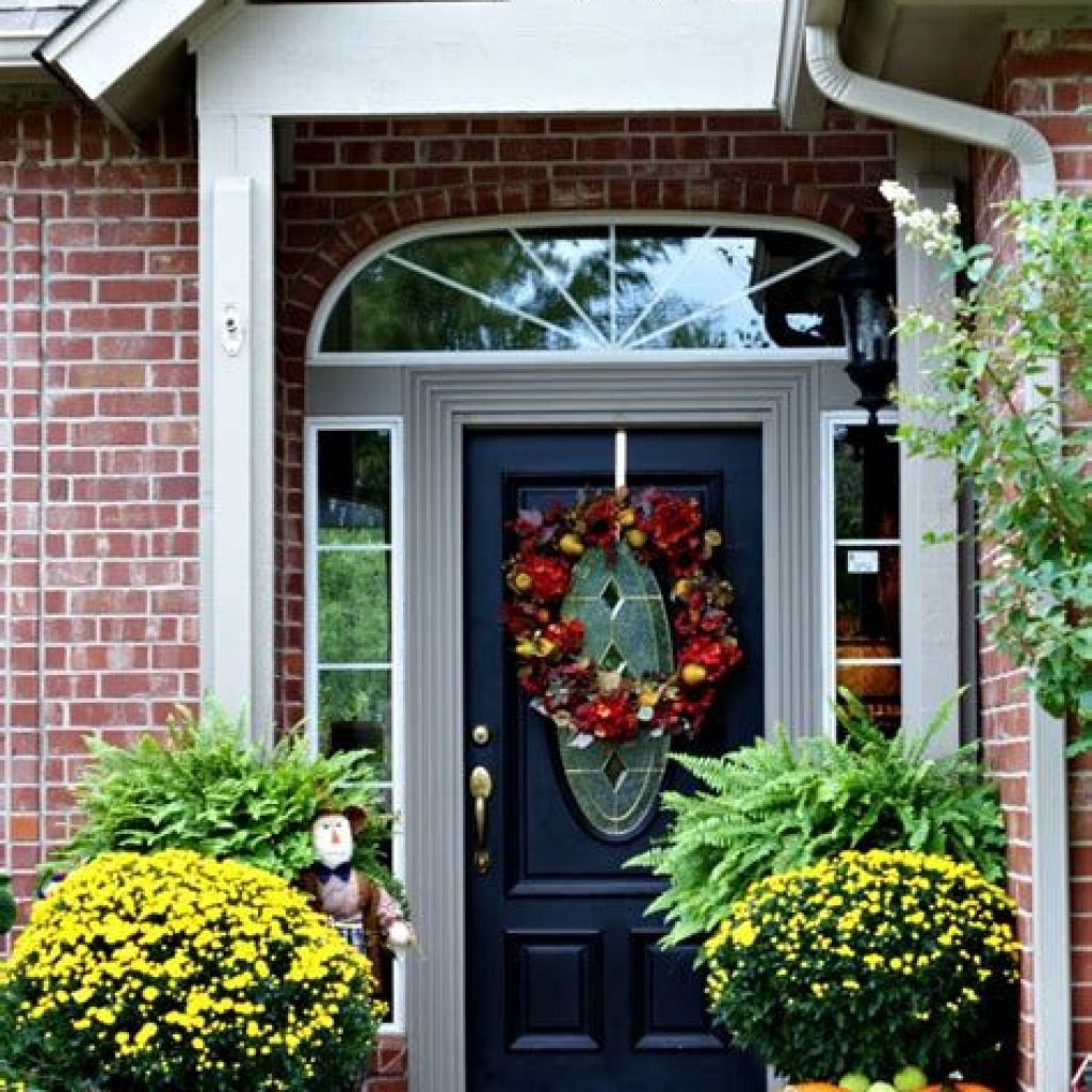 Easy Outdoor Fall Decoration To Inspire Yourself 24