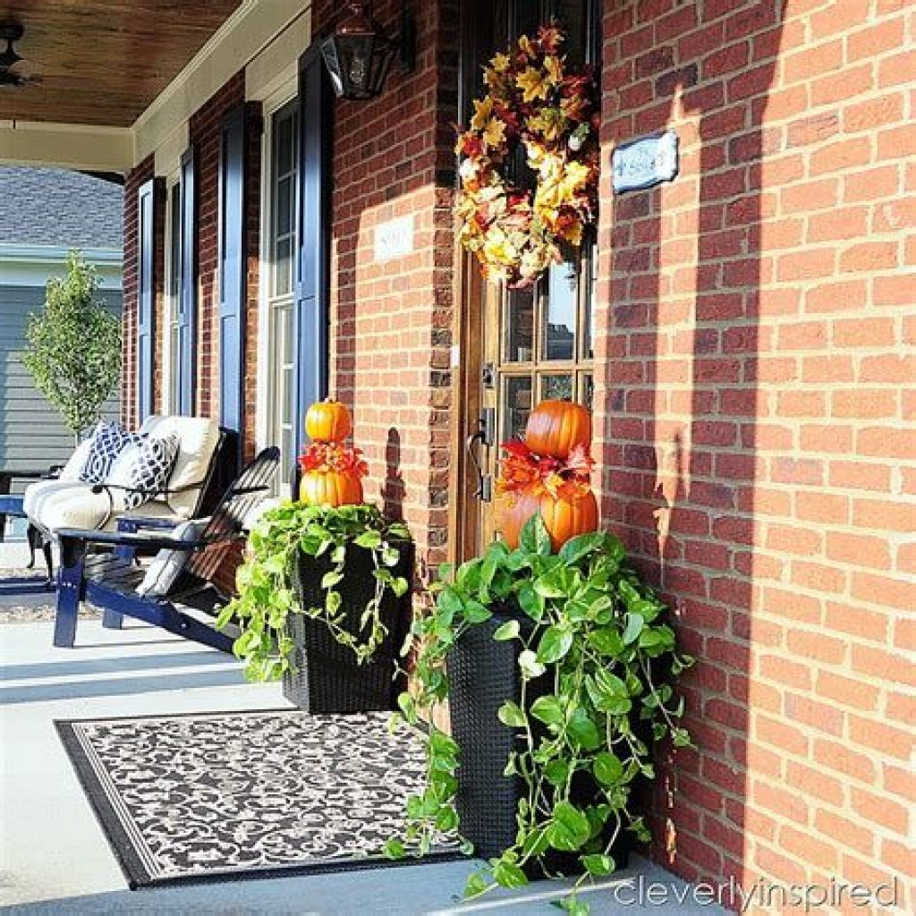 Easy Outdoor Fall Decoration To Inspire Yourself 29